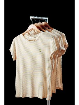 Weekend Cotton Clay Stripes Half Top