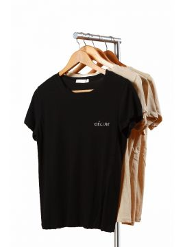 Weekend Cotton Black T-Shirt