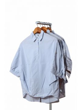 Weekend Light Blue Cotton Half Top