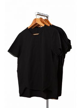 Weekend Black Cotton Half Top