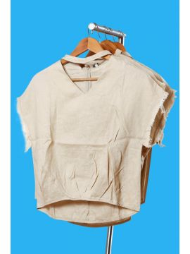 Weekend Cotton Light Brown Half Top