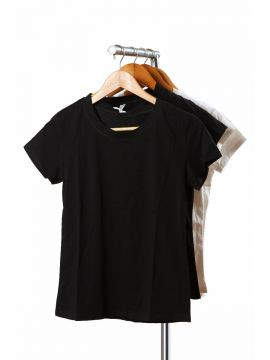 Weekend Black Crepe Half Top
