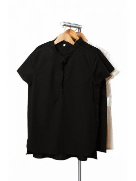 Weekend Cotton Black Shirt
