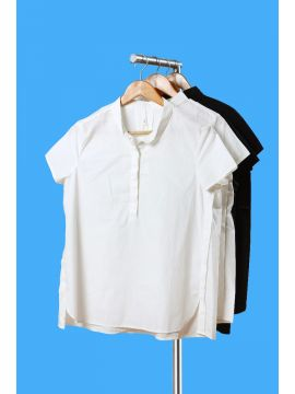 Weekend Cotton White Half Top