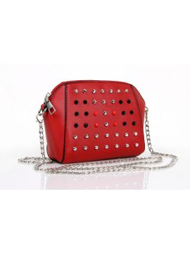 Chili Red Ladies Leather Sling Bag