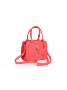 Fresh Rose PU Leather Sling Bag