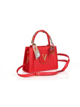 Brick Red PU Leather Sling Bag