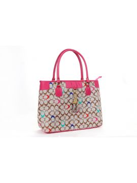Multicolour With Hot Pink Hand-held bag