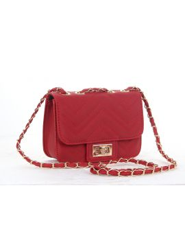 Blood Red  PU Leather Sling Bag