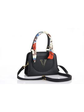 Black Fashion PU Leather Sling Bag