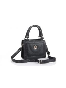 Black Ladies PU Leather Sling Bag