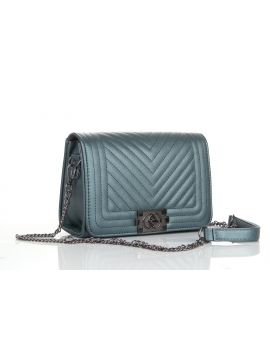 Marble Green PU Leather Sling Bag