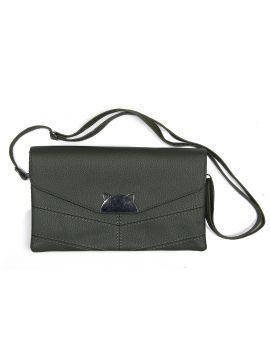 Green Forest PU Leather Sling Bag