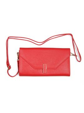 Vermillion Red  Ladies Leather Sling Bag
